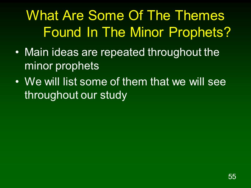 What Are Some Of The Themes Found In The Minor Prophets