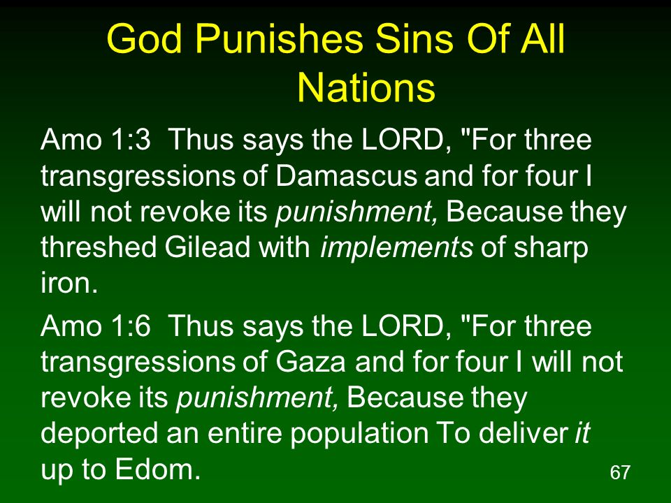 God Punishes Sins Of All Nations