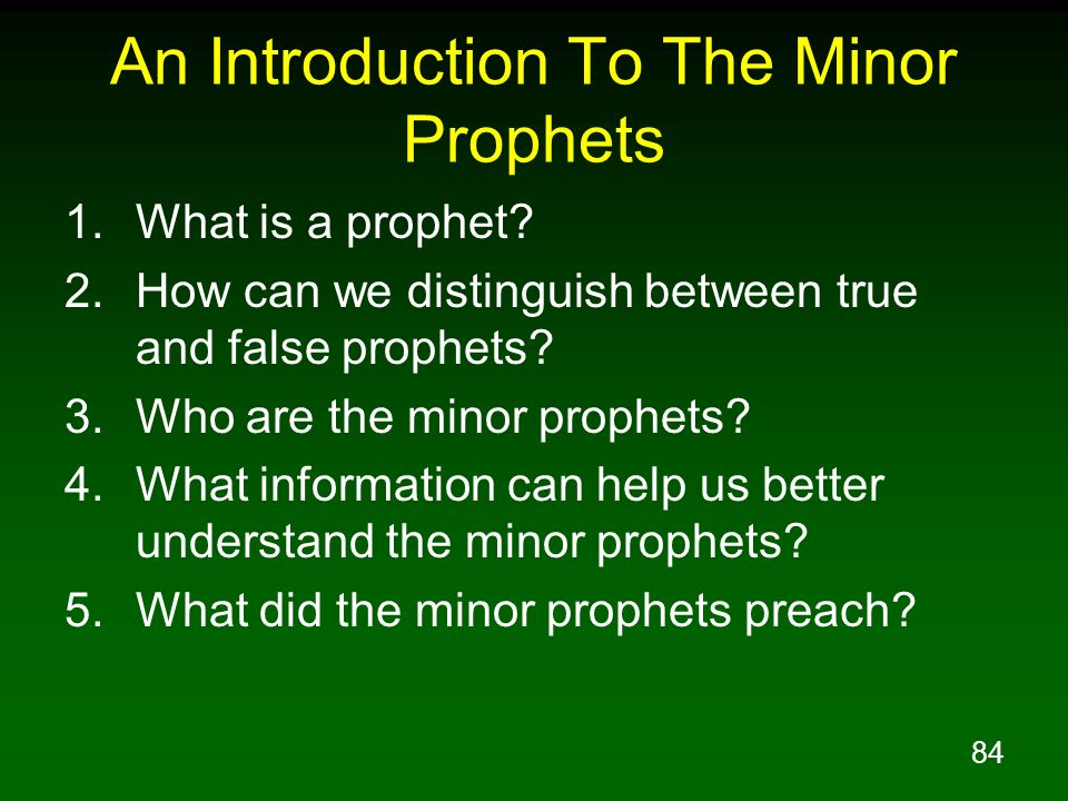 An Introduction To The Minor Prophets