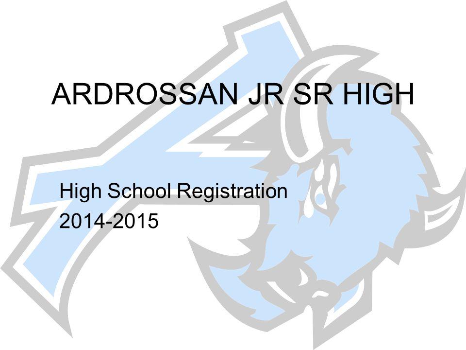 High School Registration 2014-2015
