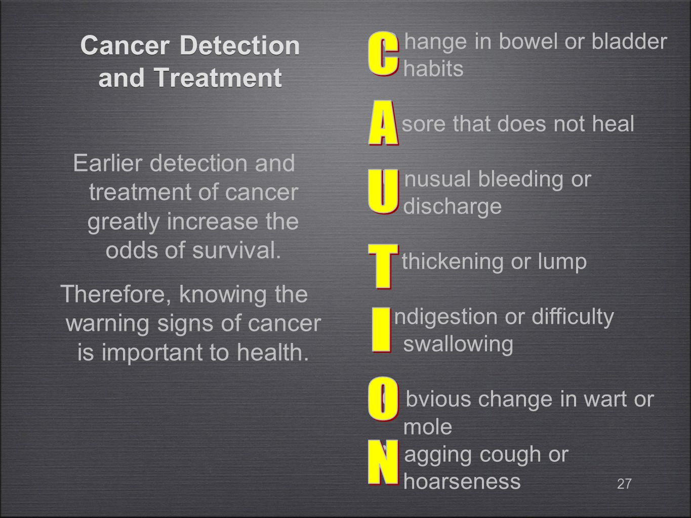 Cancer Detection and Treatment