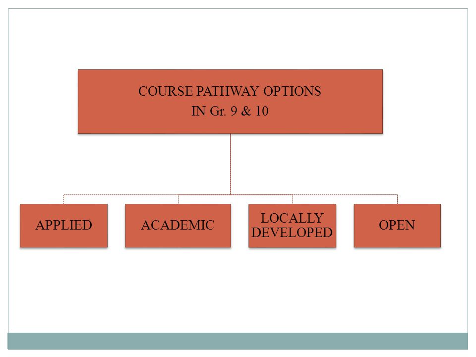 COURSE PATHWAY OPTIONS