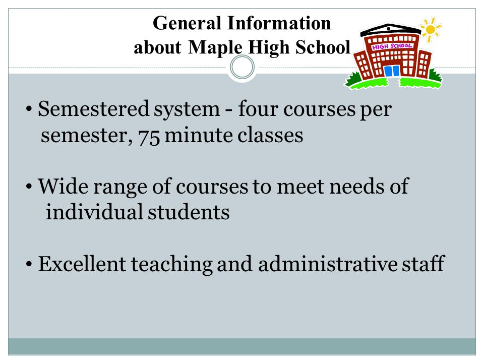 General Information about Maple High School