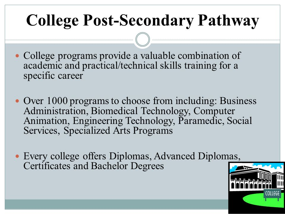 College Post-Secondary Pathway