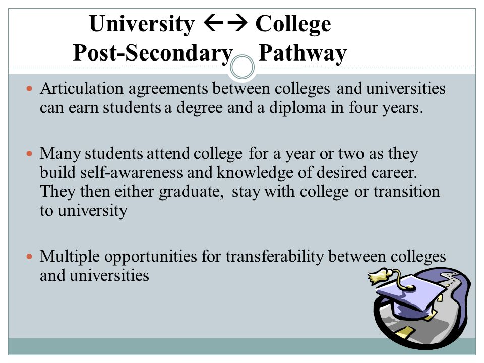 University  College Post-Secondary Pathway