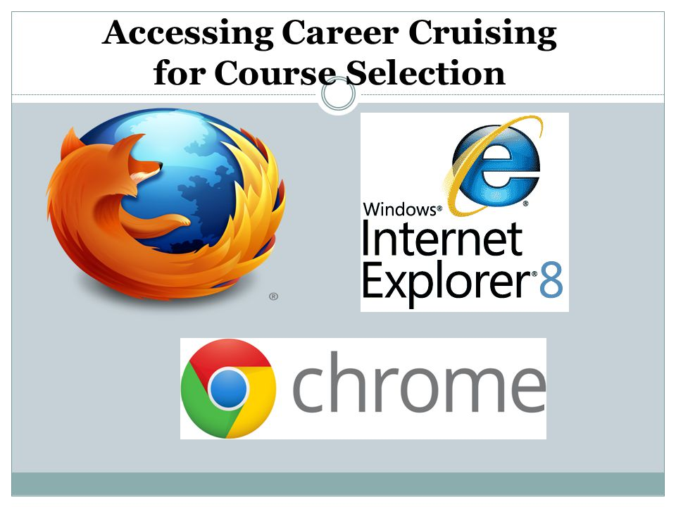 Accessing Career Cruising for Course Selection
