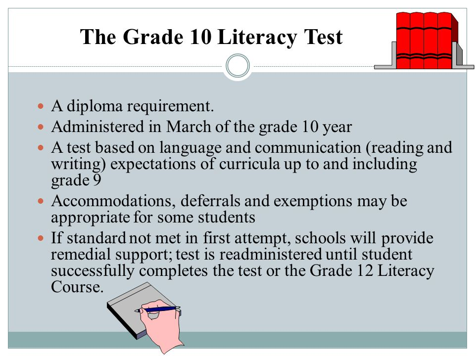 The Grade 10 Literacy Test