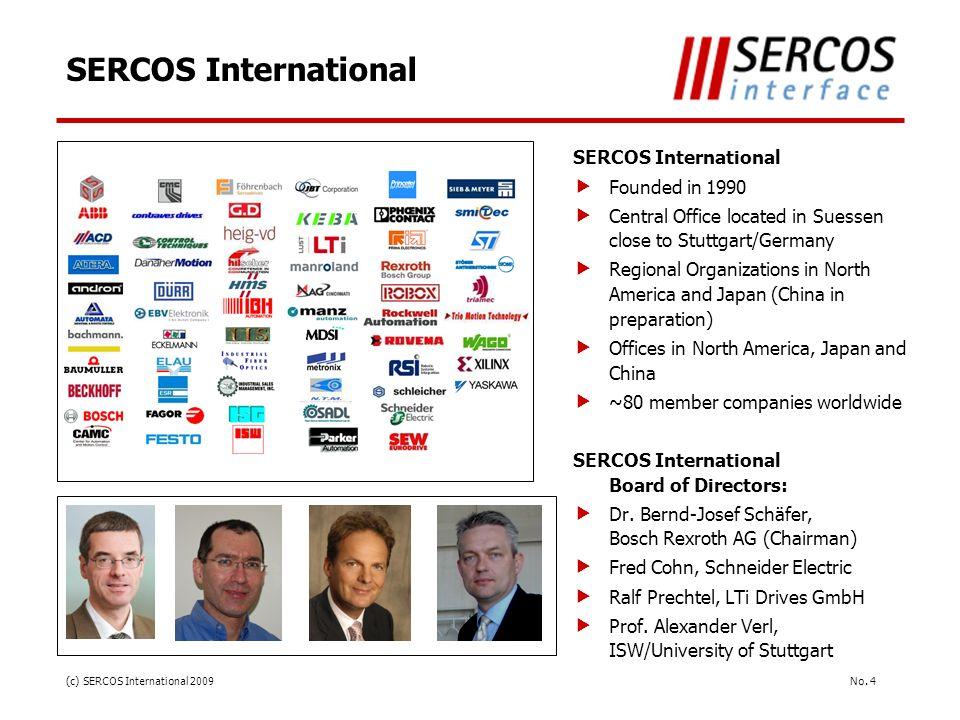 SERCOS International SERCOS International Founded in 1990
