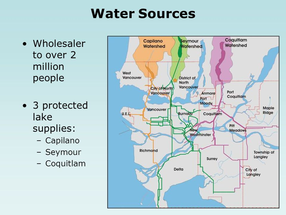 Water Sources Wholesaler to over 2 million people