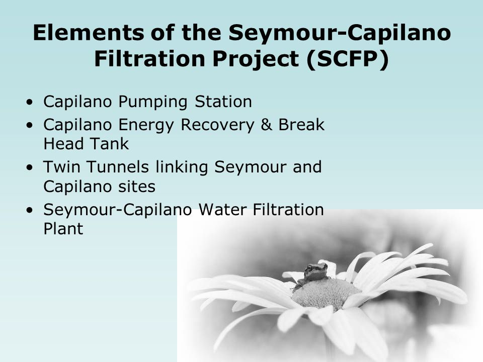 Elements of the Seymour-Capilano Filtration Project (SCFP)