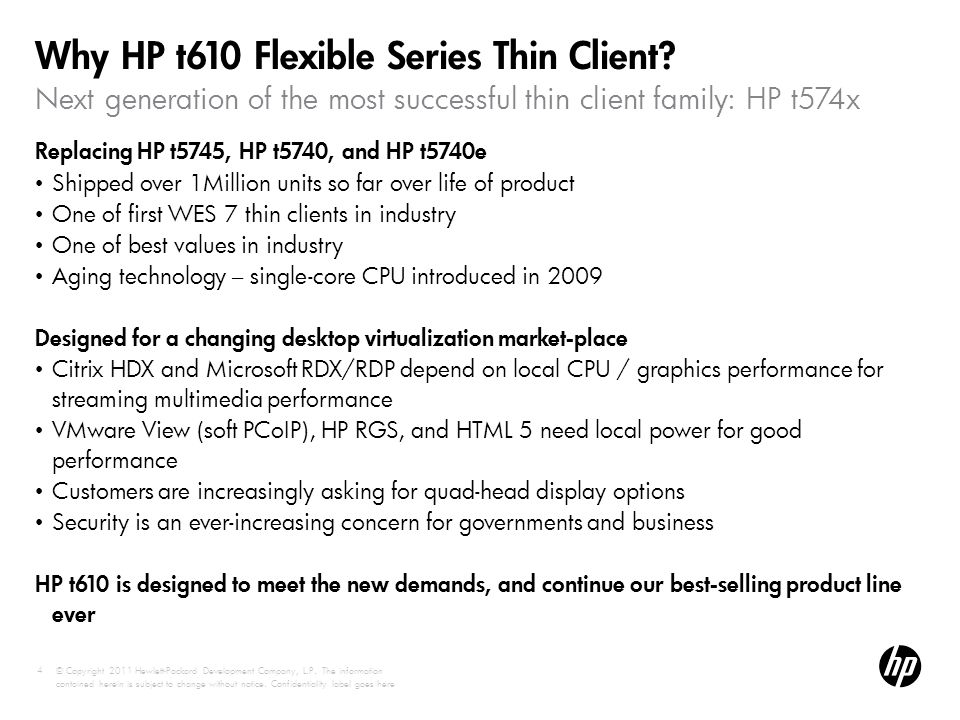 Why HP t610 Flexible Series Thin Client