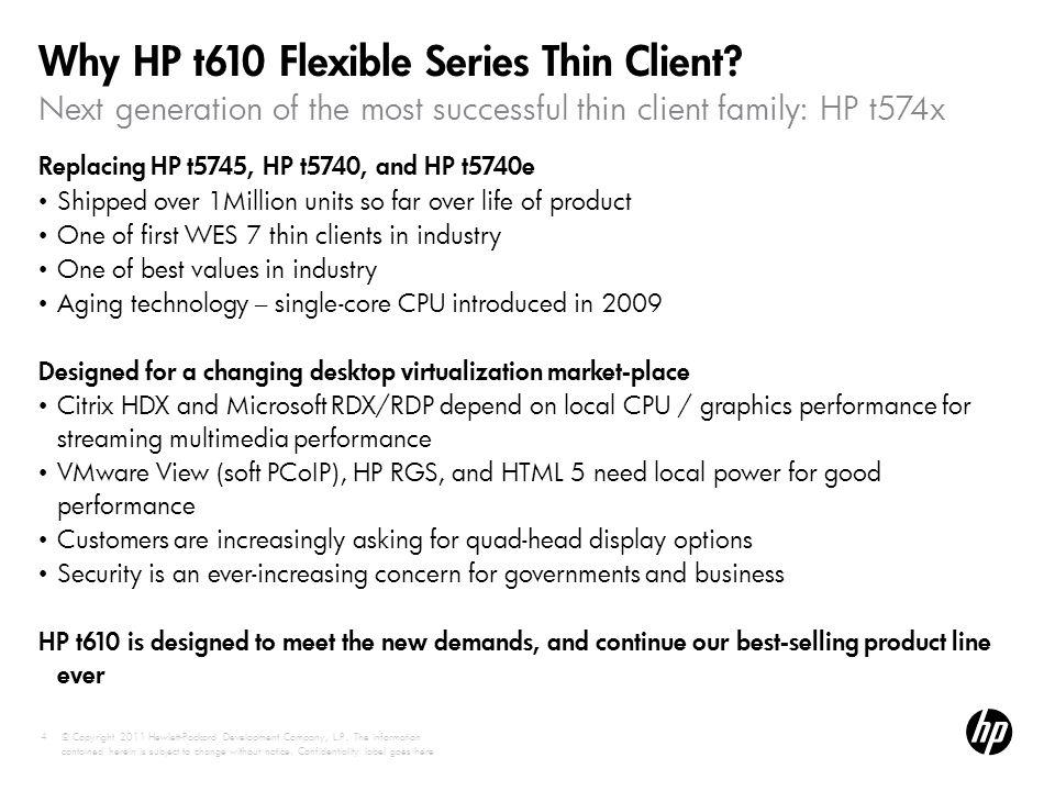 Why HP t610 Flexible Series Thin Client