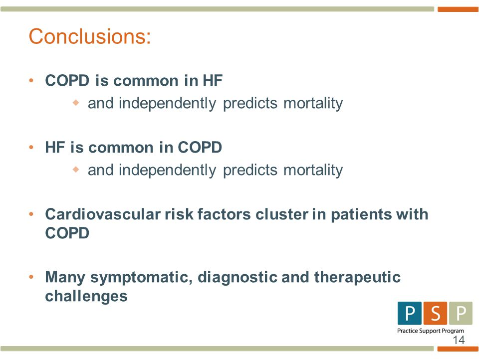 Conclusions: COPD is common in HF and independently predicts mortality