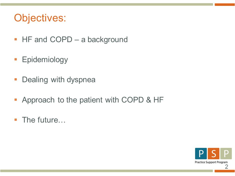 Objectives: HF and COPD – a background Epidemiology