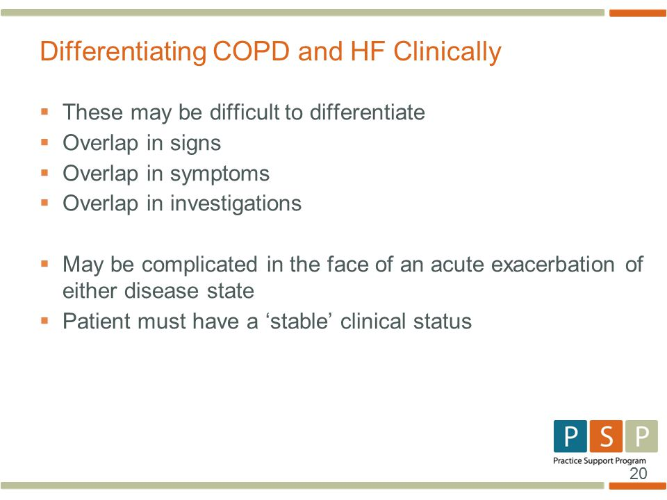 Differentiating COPD and HF Clinically