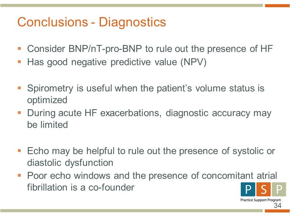 Conclusions - Diagnostics
