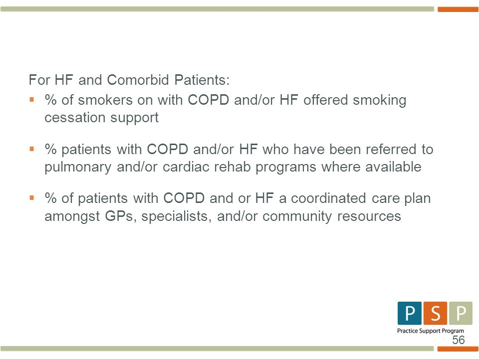 For HF and Comorbid Patients: