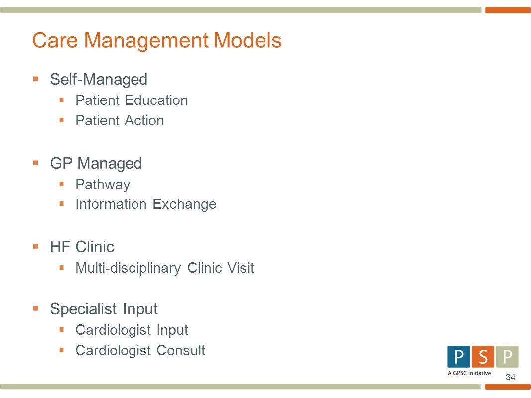 Care Management Models
