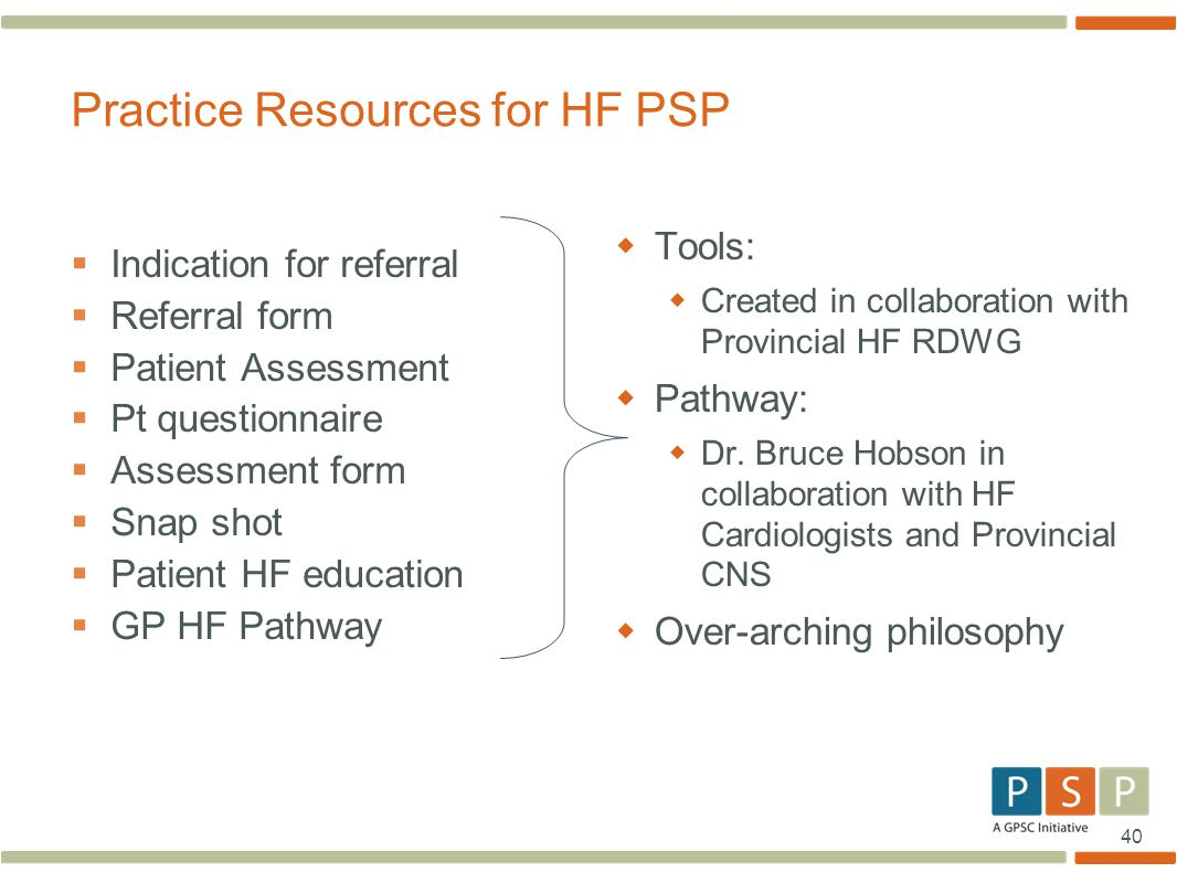 Practice Resources for HF PSP