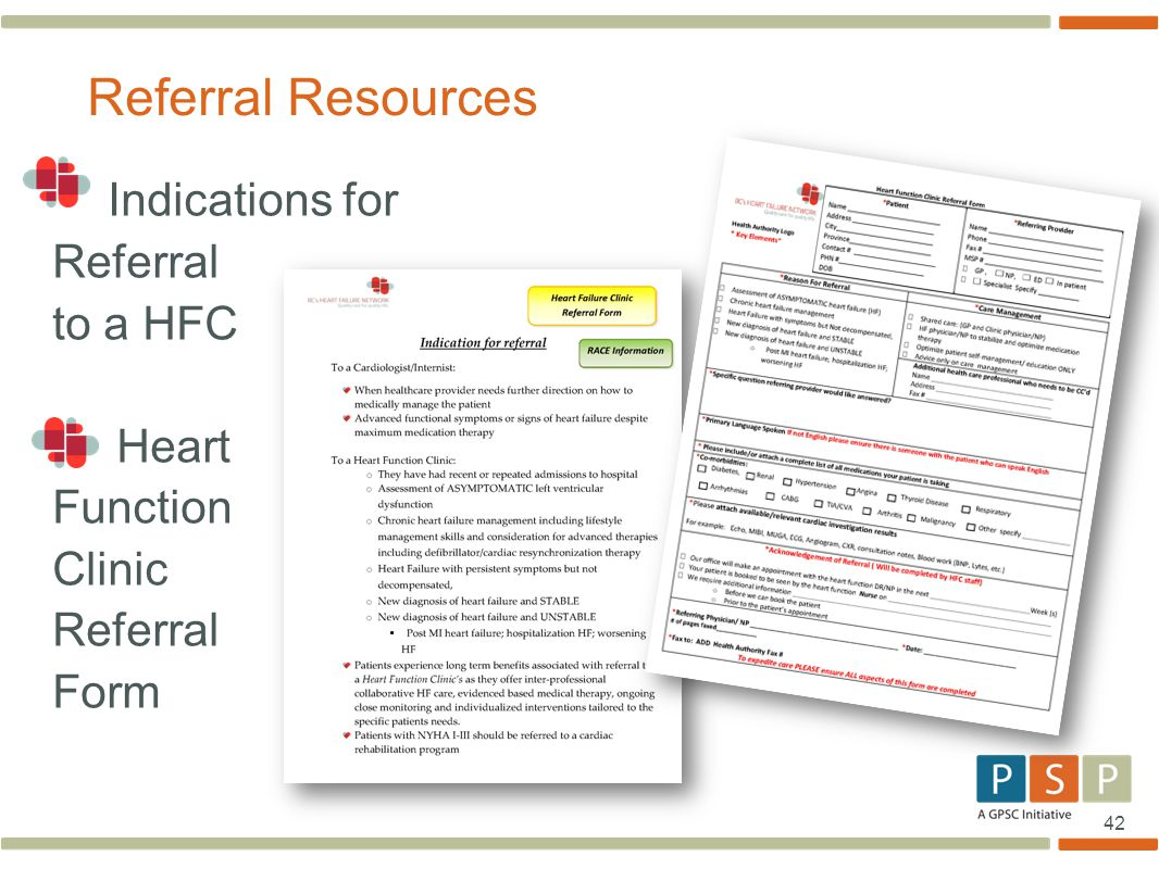 Referral Resources Referral to a HFC Heart Function Clinic Form