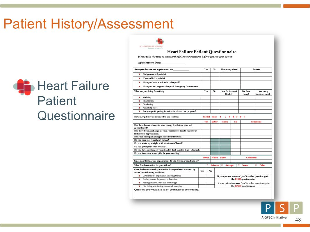 Patient History/Assessment