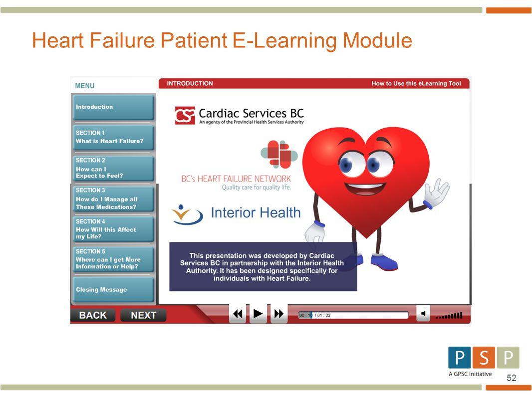 Heart Failure Patient E-Learning Module
