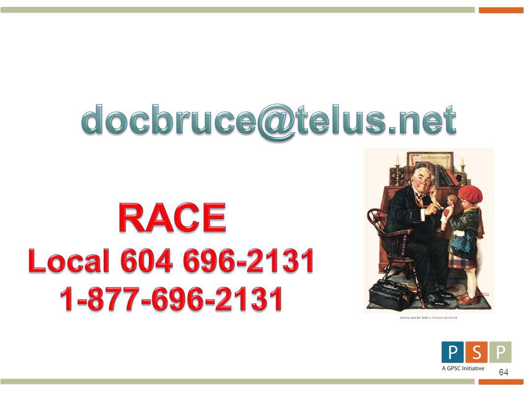docbruce@telus.net RACE