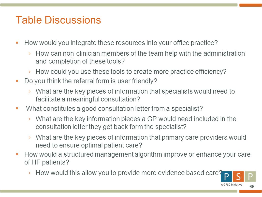 Table Discussions How would you integrate these resources into your office practice