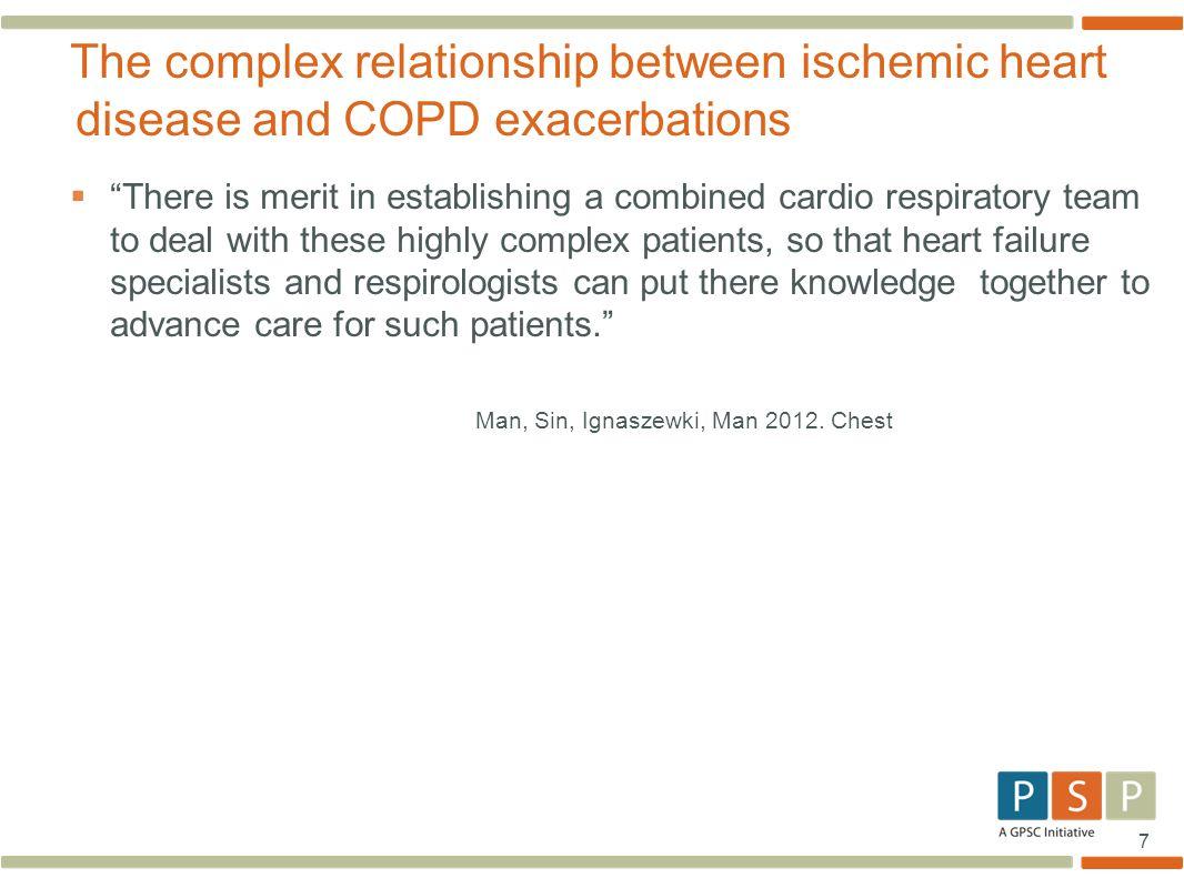 The complex relationship between ischemic heart disease and COPD exacerbations