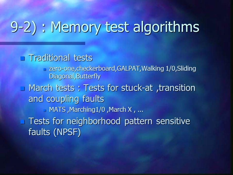 9-2) : Memory test algorithms