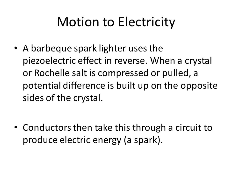 Motion to Electricity