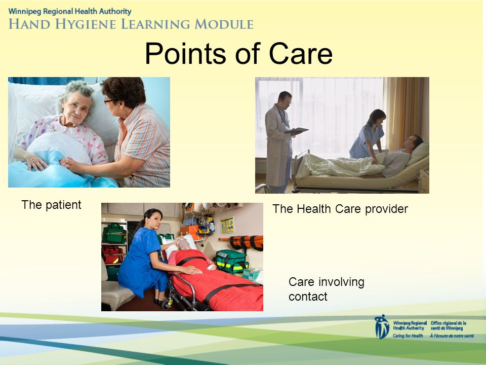 Points of Care The patient The Health Care provider