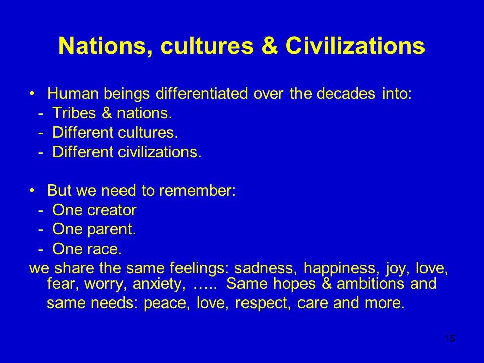 Nations, cultures & Civilizations