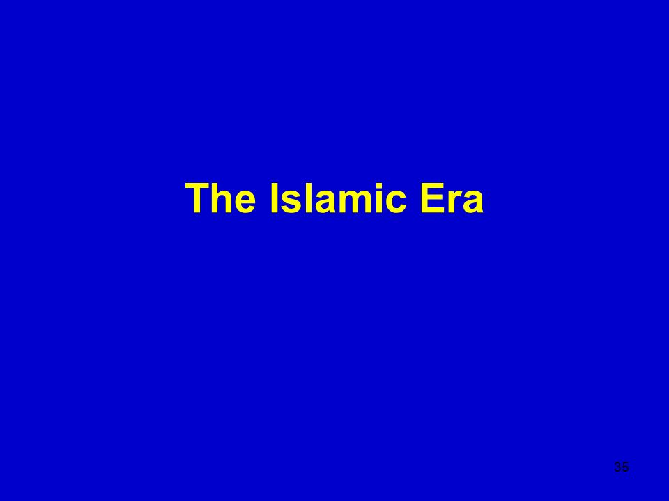 The Islamic Era