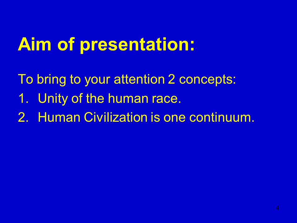 Aim of presentation: To bring to your attention 2 concepts: