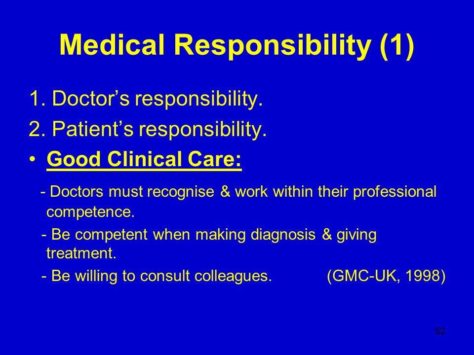 Medical Responsibility (1)