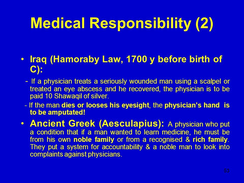 Medical Responsibility (2)