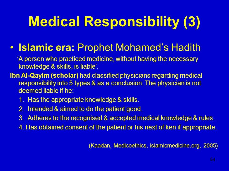 Medical Responsibility (3)