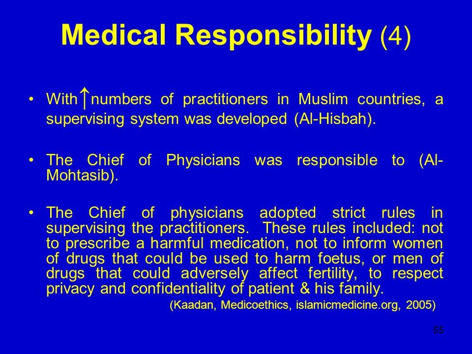 Medical Responsibility (4)