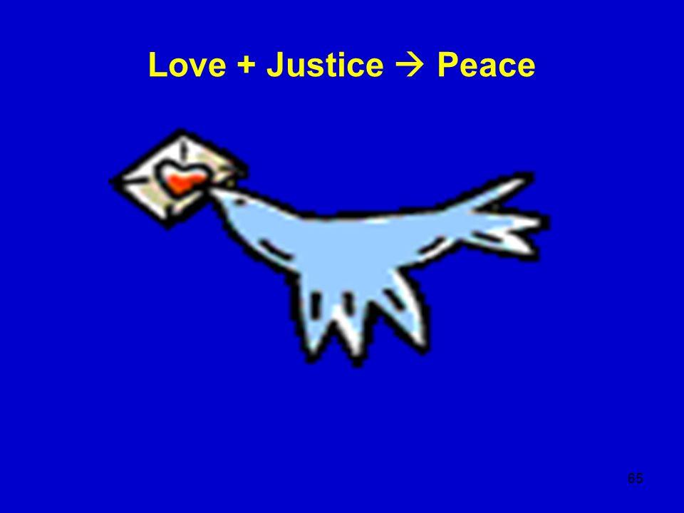 Love + Justice  Peace