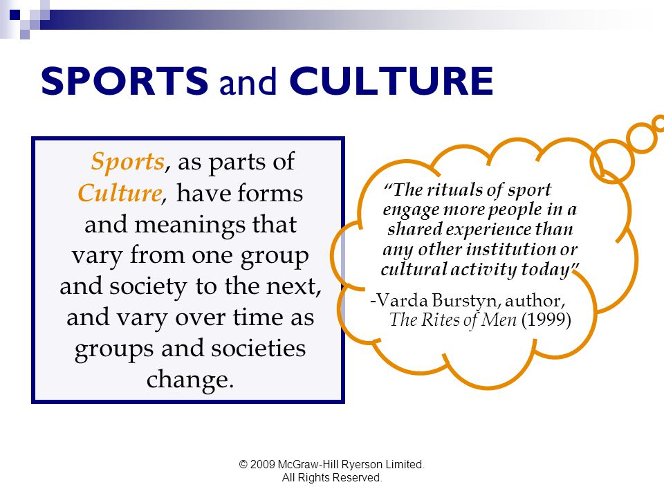 SPORTS and CULTURE