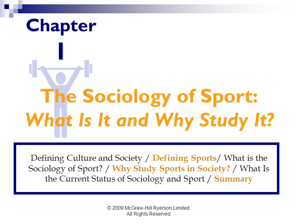 The Sociology of Sport: What Is It and Why Study It