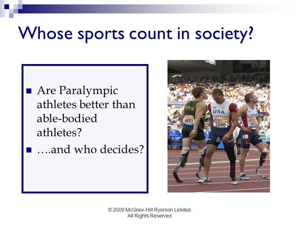 Whose sports count in society