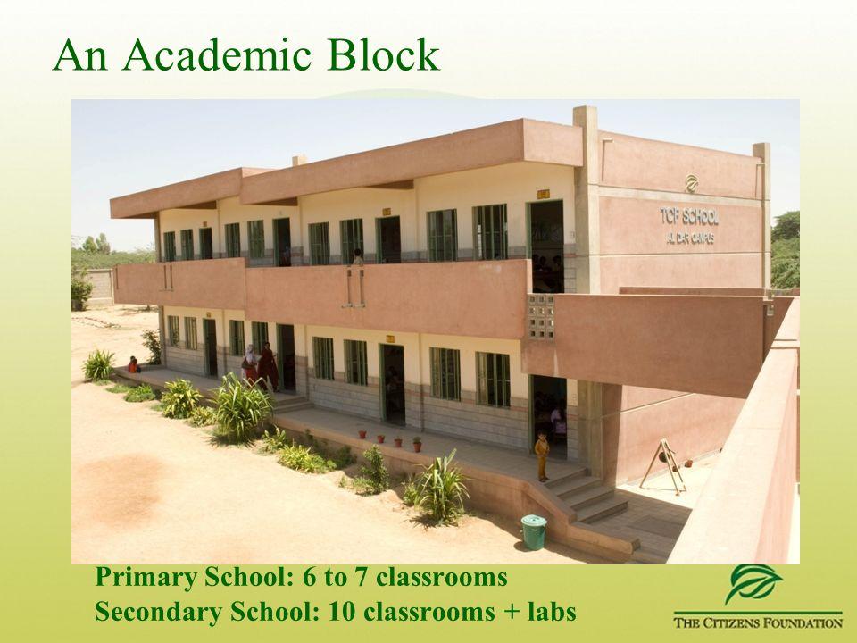 An Academic Block Primary School: 6 to 7 classrooms