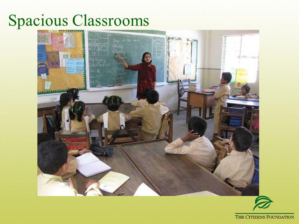Spacious Classrooms