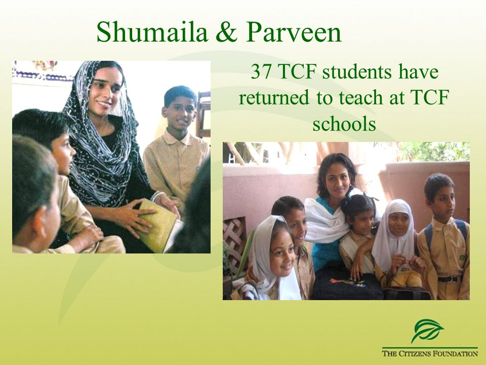 37 TCF students have returned to teach at TCF schools