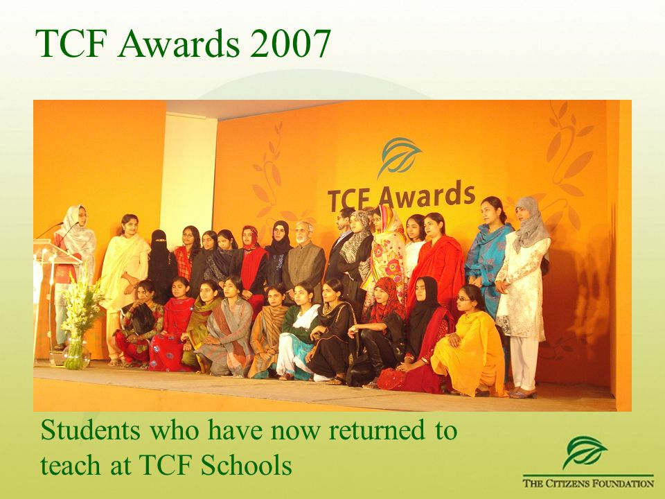 Students who have now returned to teach at TCF Schools
