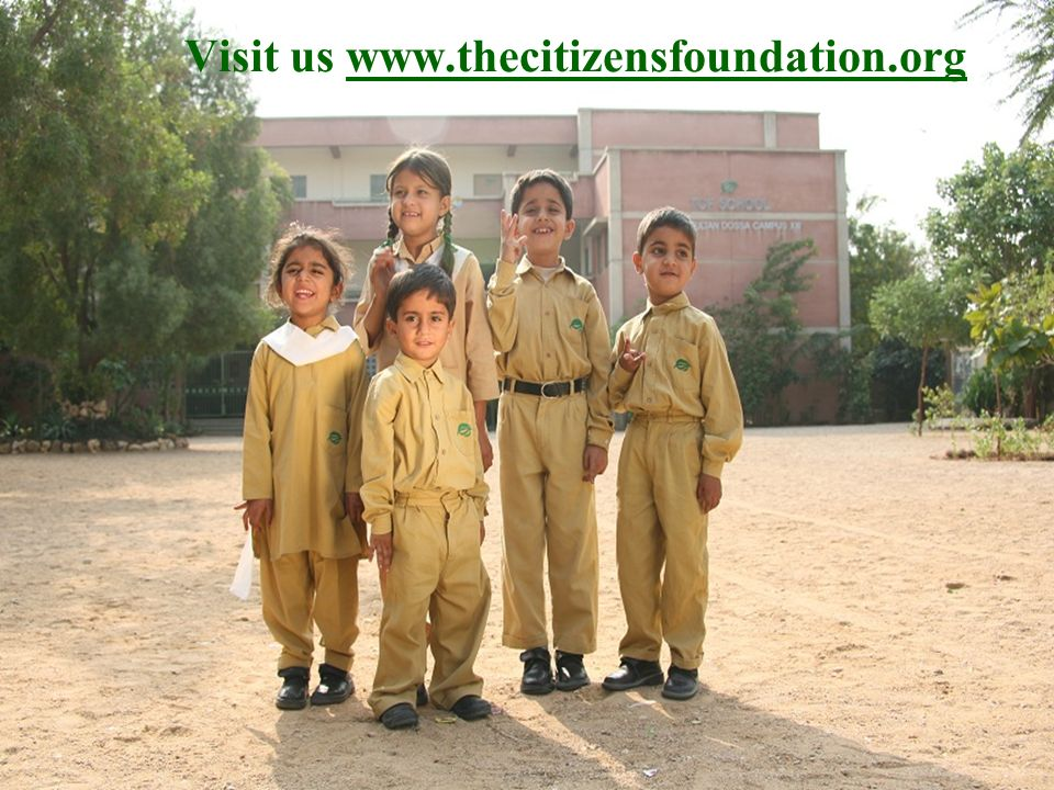 Visit us www.thecitizensfoundation.org