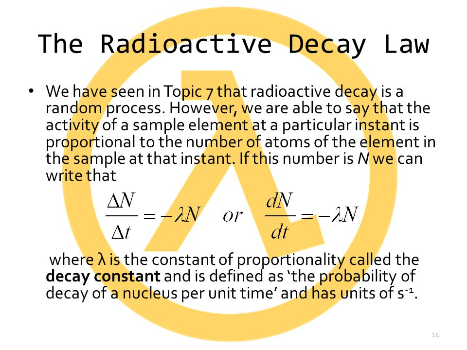 The Radioactive Decay Law