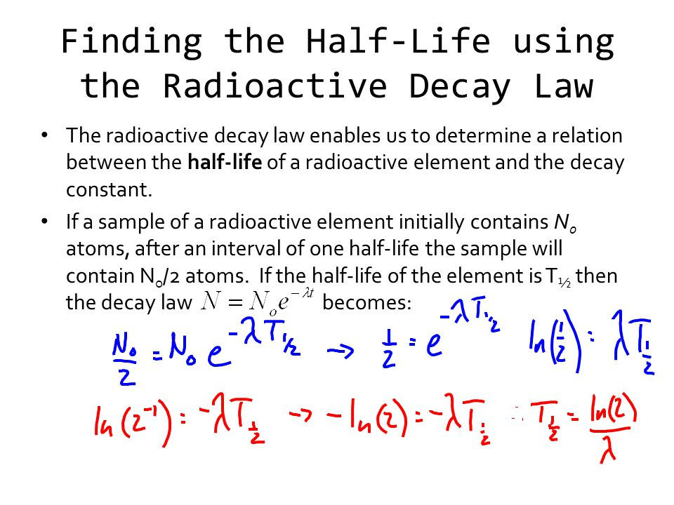 Finding the Half-Life using the Radioactive Decay Law
